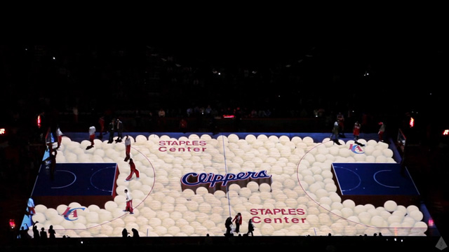 Los Angeles Clippers 3D Court Projection